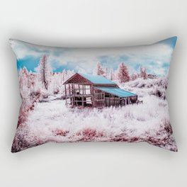 Old Barn In The Frost, Idaho Rectangular Pillow