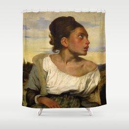 """Eugène Delacroix """"Jeune orpheline au cimetière (The Orphan Girl at the cemetery)"""" Shower Curtain"""