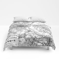Paris and travel comforters society6 vintage paris map gumiabroncs Gallery