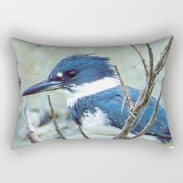 Young Belted Kingfisher (Repost) Rectangular Pillow