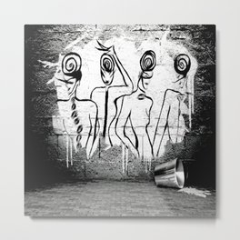 4Ladies - Banksy - GRAFITTI Metal Print