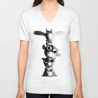 totem V-neck T-shirts featuring Totem by Det Tidkun