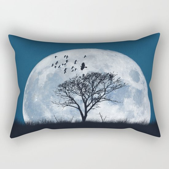 When the moon speaks (part IV) Rectangular Pillow