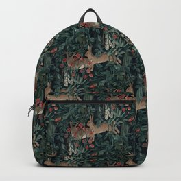 Bunny medieval tapestry Backpack