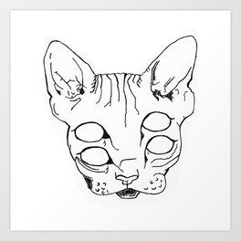 Trippy-Eyed Cat Art Print