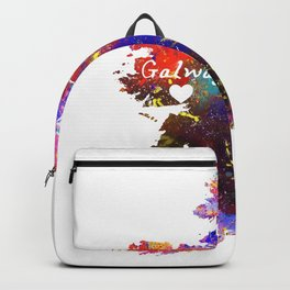 Galway heart on map  Quote Art Design Inspiratio Backpack