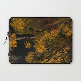 Autumn Leaves and Stream Laptop Sleeve
