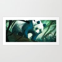 The Lurking Panda Art Print
