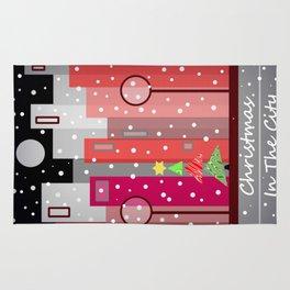 City Christmas Snowfall Rug
