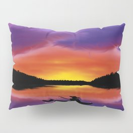 Sunset Fishing Pillow Sham