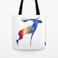 moose Tote Bags featuring Moose by Verismaya
