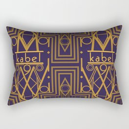Kabel Type Portrait Purple Rectangular Pillow