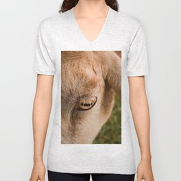 Window to a goat's soul  Unisex V-Neck