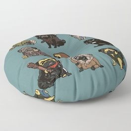 The Walking Pug Floor Pillow
