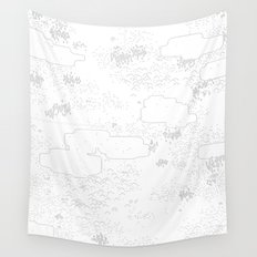 land of 15 towns and a cemetary Wall Tapestry
