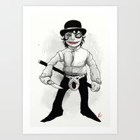 clockwork orange Art Prints featuring Clockwork Orange by shugmonkey