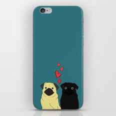 Pugs In Love iPhone Skin