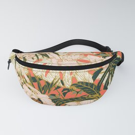 Flowering tropical coral bloom Fanny Pack