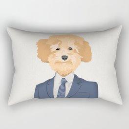 Posing Poodle Rectangular Pillow