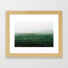 White and green Framed Art Print