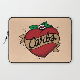 Carbs Tattoo Heart Laptop Sleeve