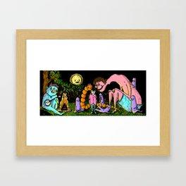 Camp out Framed Art Print