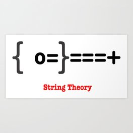 String Theory Art Print