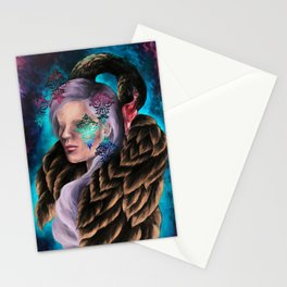 """Did He Make You Feel Like Wallpaper"" Painting Stationery Cards"