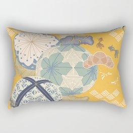 Susumaru Kimono Print  Rectangular Pillow