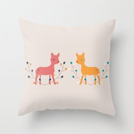 deer fun Throw Pillow