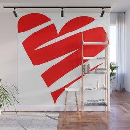 Stylized Heart Wall Mural