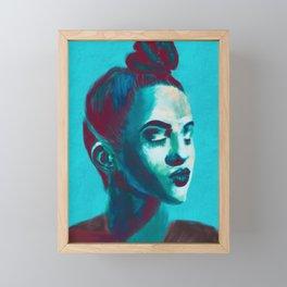 Dancer in Blue Framed Mini Art Print