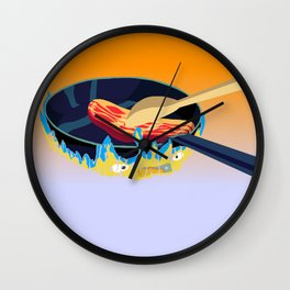 may all your bacon burn Wall Clock
