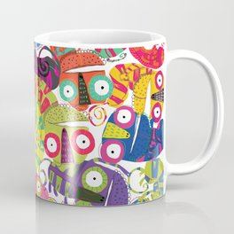 Colored lizards Coffee Mug