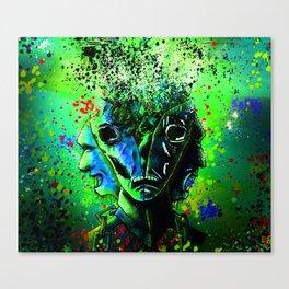 Split-face Green Canvas Print