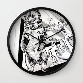 Time traveling troop of ruffians Wall Clock