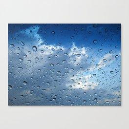 Raindrops in Blue Canvas Print