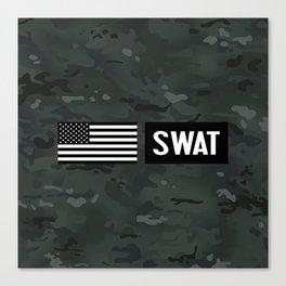 SWAT: Black Camouflage Canvas Print