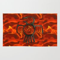 native american Area & Throw Rugs featuring Flight 2 Native American by BohemianBound