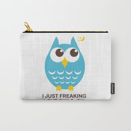 I just freaking love Owls, OK. Carry-All Pouch