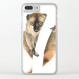 Hanging with a Lemur Clear iPhone Case
