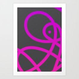 "Untitled minima line ""plus"" dot. (Magenta) Art Print"