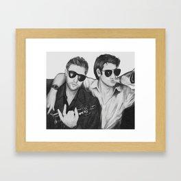 Celebs Chillin Framed Art Print