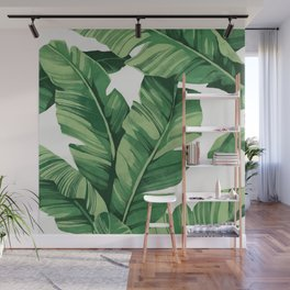 Tropical banana leaves Wall Mural