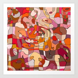 abstract reds Art Print