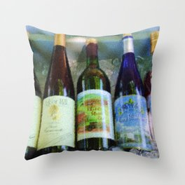 vino time Throw Pillow