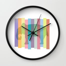 Color Elephant Wall Clock