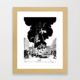 Lady of Flame Framed Art Print