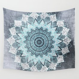 BOHOCHIC MANDALA IN BLUE Wall Tapestry