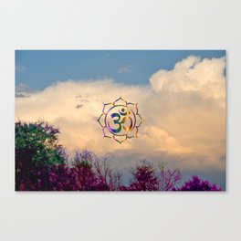 Trees Clouds Om Canvas Print